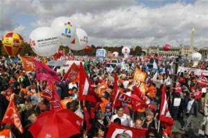 French protests in Tunisia