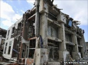 Destroyed in quake and tsunami