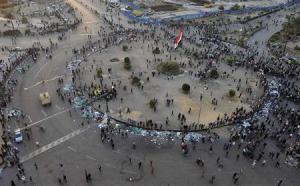 Last protesters in Tahrir Square