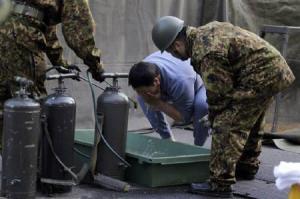 Man from Fukushima receiving treatment for Radiation