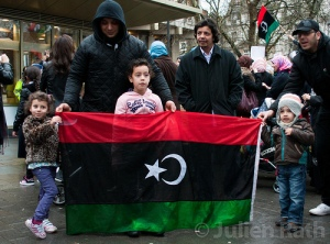 pre-Gaddafi Libyan flag
