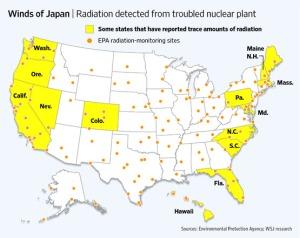 Radiation hit US states
