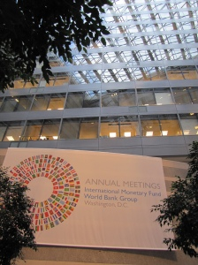 Anual meetings of WB and IMF