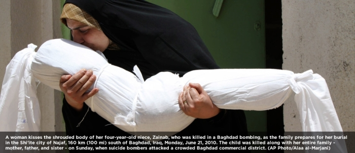 A boy killed in suicide bombing in Nazaf