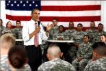 President Obama speaks to soldiers Thursday at Fort Drum