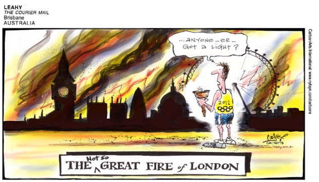 Olympic fire of London