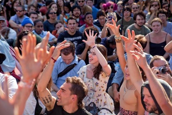 Hand signals in Zuccotti park