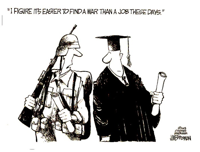 Jobs and wars