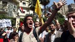 Egyptians protest at Saudi embasy