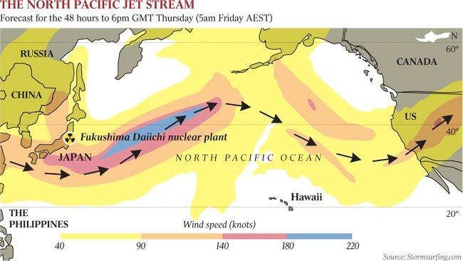 Fukushima jet stream