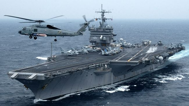 USS Enterprise aircraft carrier in the Persian Gulf