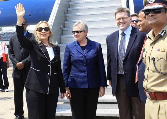 Hillary visits India May 6