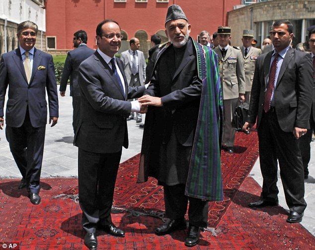 Hollande in Afghanistan