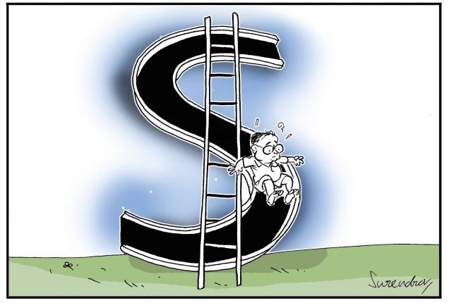 Rupee slide
