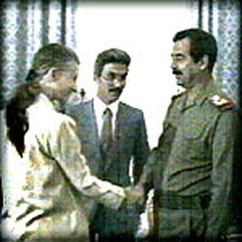 Infamous meeting; April Glaspie and Saddam