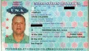 Headley passport issued by the U.S.A -The Hindu