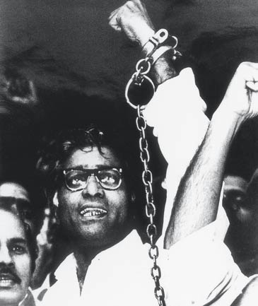 George in chains