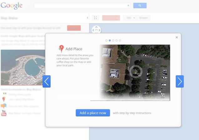 Googole MapMaker screen shot -The Hindu