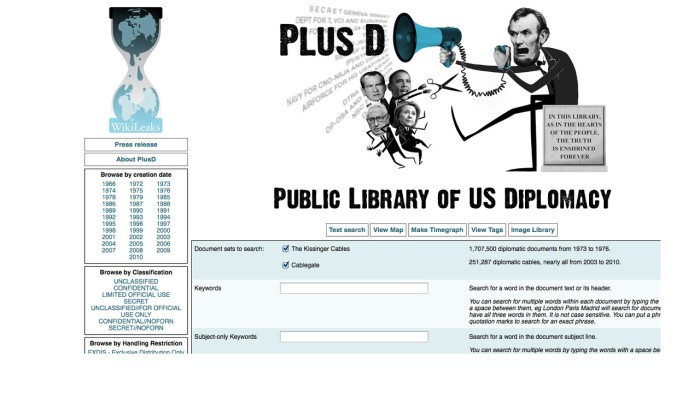 Wikileaks - Diplomatic cables