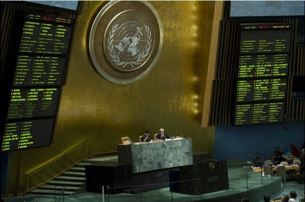 UN General Assembly discussing Syria