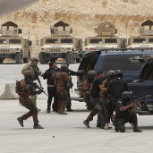 "Jordanian and U.S. special forces demonstrate their skills during their ""Eager Lion"" military exercise in Amman"
