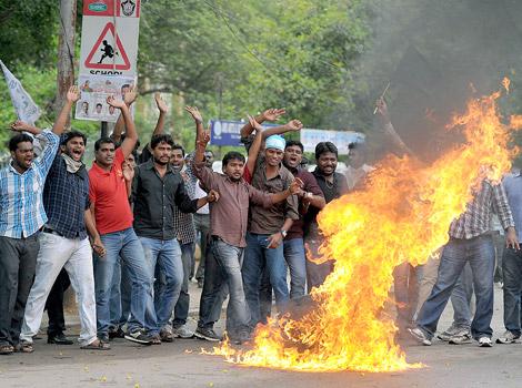 Telangana agitation