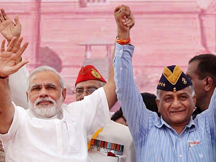Modi, V K Singh