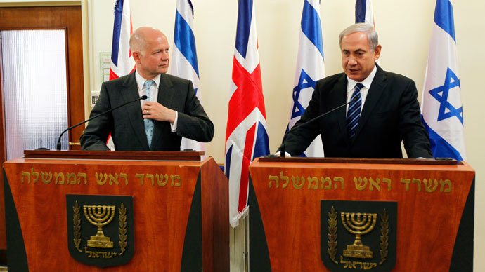 William Hague and Benjamin Netanyahu