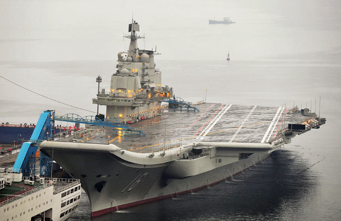 China's first aircraft carrier Lioning