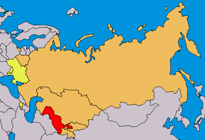 Map of Eurasian Economic Community -Eurasec