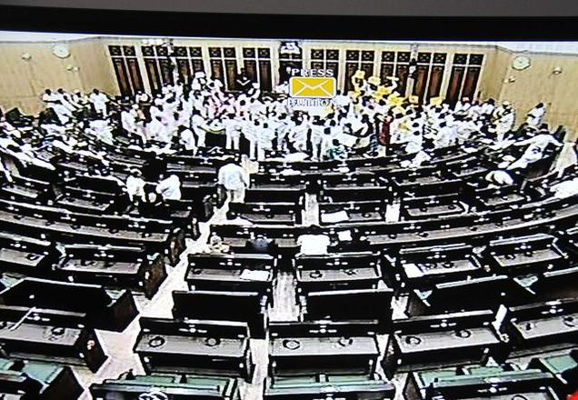 Pandemonium in AP Assembly -The Hindu