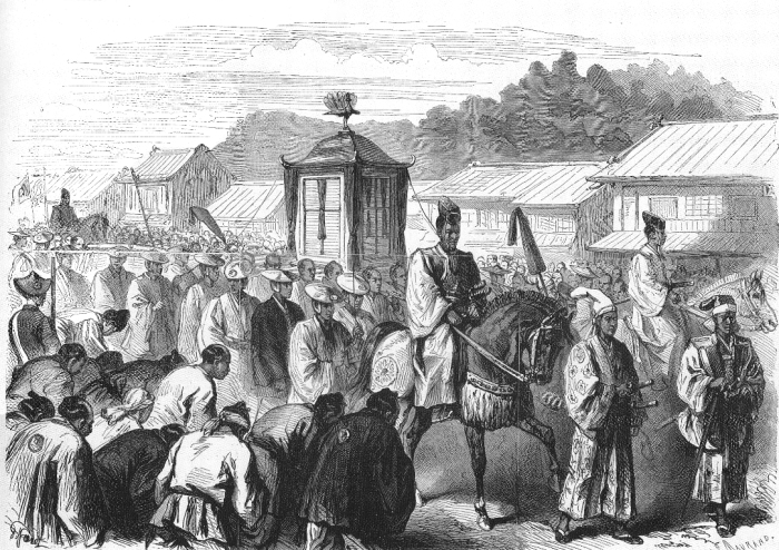 Emperor Meiji moving from Kyoto to Tokyo end of 1868