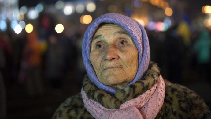 Pensions halved in Ukraine