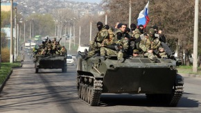 Ukraine army in Kramatorsk city