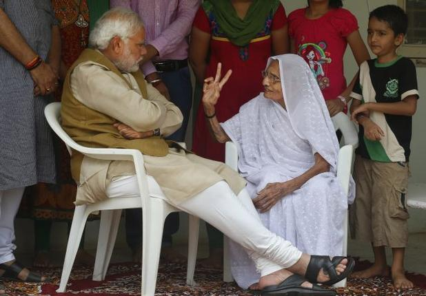 Modi with his mother