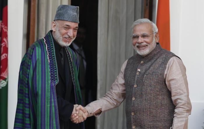 Modi with Karzai