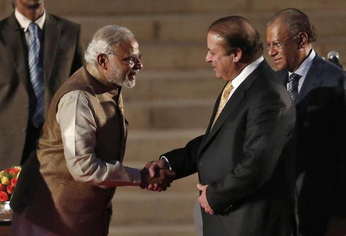Modi with Sharif