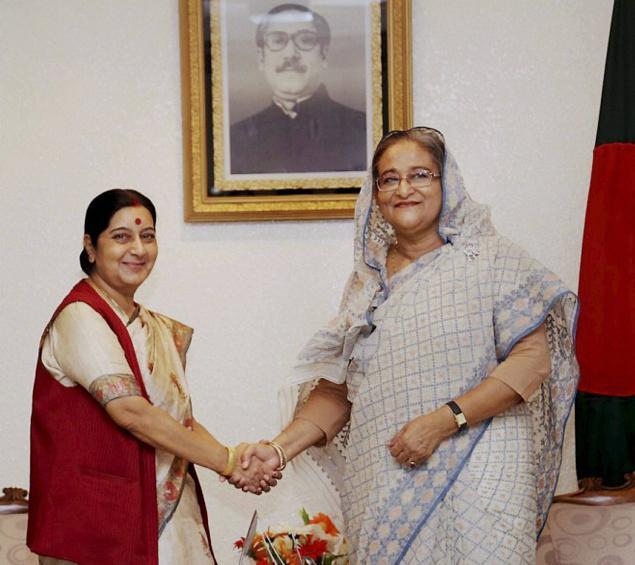 Sushma and Sheikh Hasina
