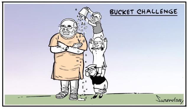 Bucket challenge to Modi