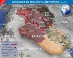 IS advance in Iraq and Syria