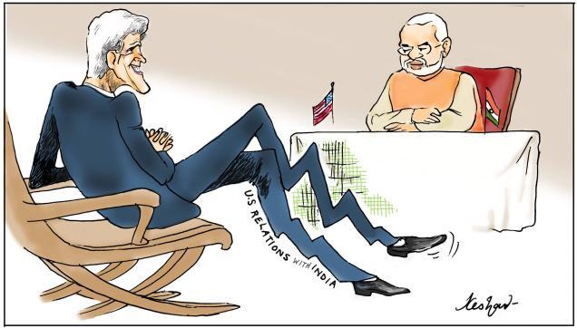 Kerry meets Modi