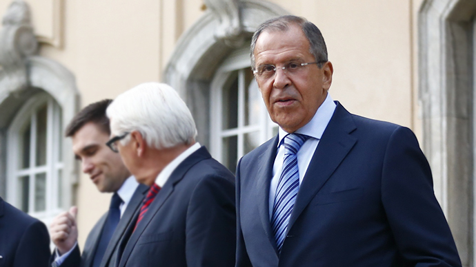 Lavrov in Berlin along with FMs of Ukraine and Germany'
