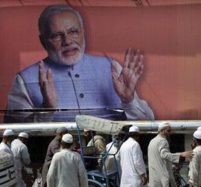 Modi hoarding in Delhi -The Hindu
