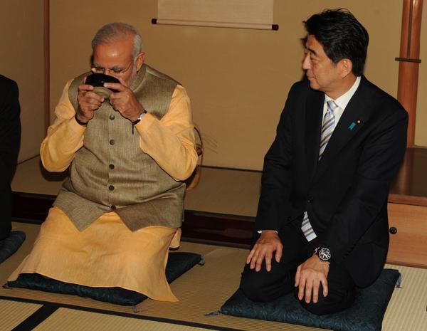 Modi with Abe