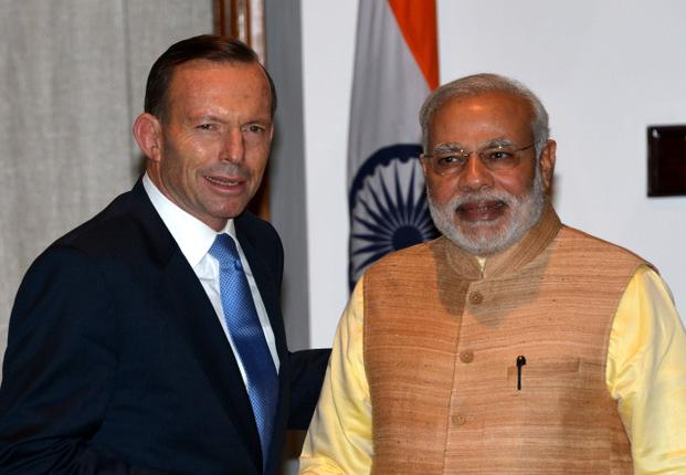 Tony Abbot and Narendra Modi
