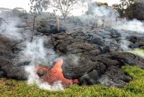 01 Kilauea Volcano's break out near Pahoa