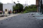 03 Protestors stoning Chilpancingo council building