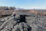 07 Geologists inspecting lava flow