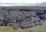 11 A typical lava flow front