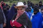11 Zapatista guerilla group supporters rally in Casas -Oct 22